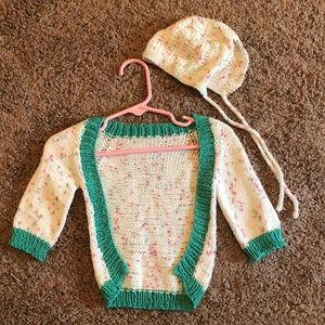 Other - Knit sweater and matching hat